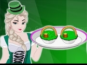Play Elsa Cooking St Patricks Day Cupcakes now