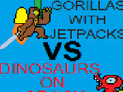 Gorillas with jetpacks vs dinosaurs on crack: onslaught
