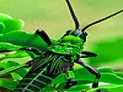 Play Green insect slide puzzle now