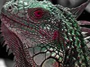 Play Red eye lizard puzzle now