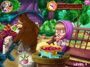 Play Masha and bear - kitchen  now